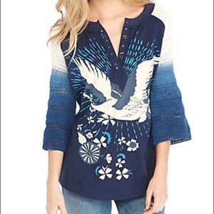 Free people women's tranquility mixed-media top